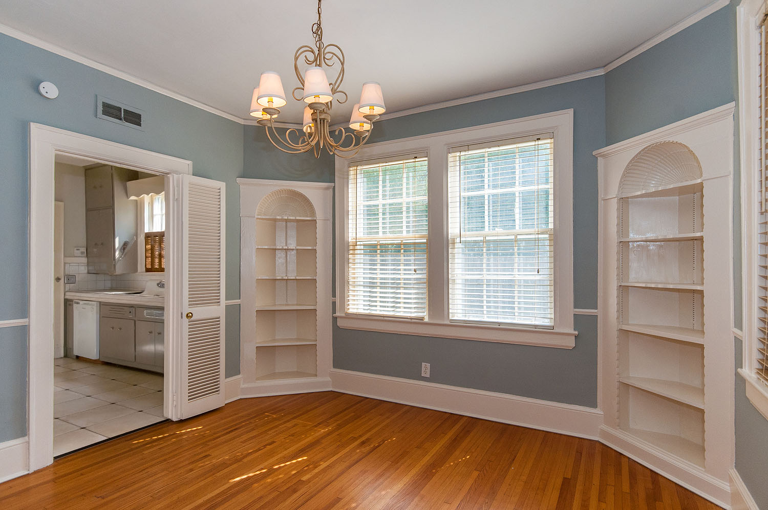Professional Dining Room With Built In Corner China Cabinets At 3417  Wellington In Historic Cloverdale, ...